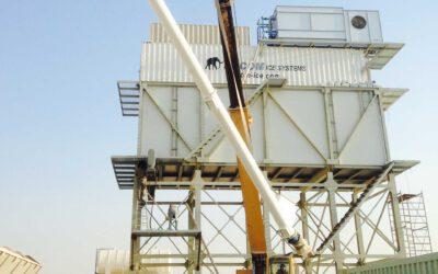 Scherf ijs installatie in Saudi Arabië