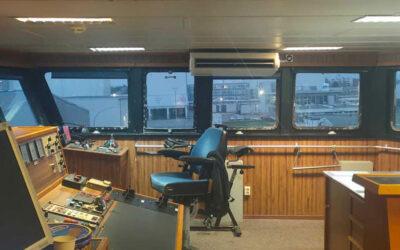 Daikin plafondonderbouw brug schip